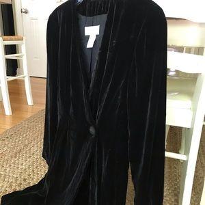 Vintage Lined Velvet Long Sleeve Blazer Dress